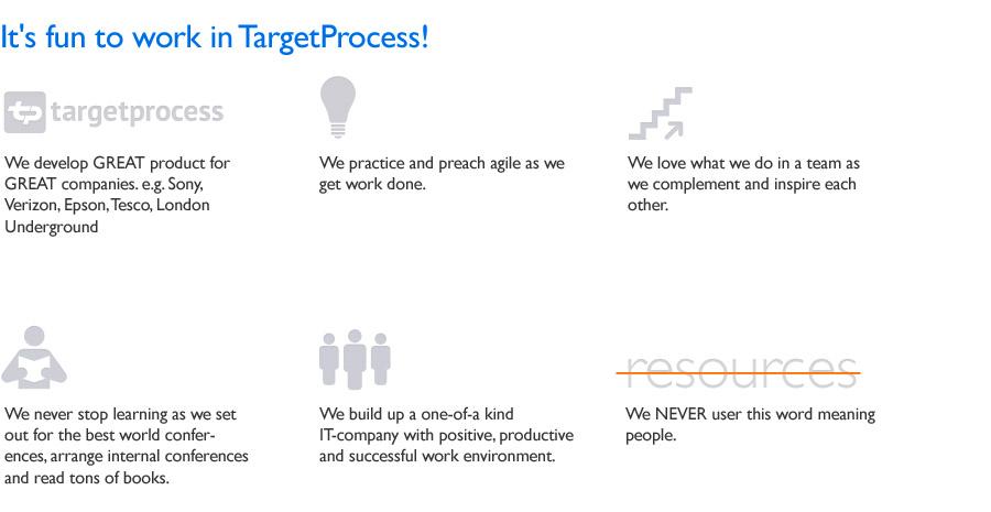 Work in TargetProcess
