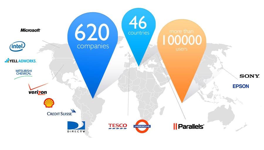 Customers World Map