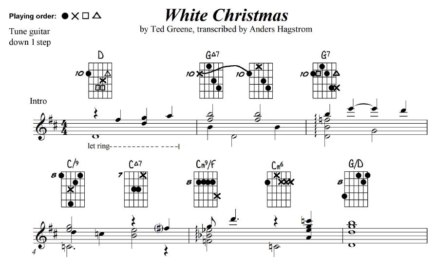 white christmas by ted greene