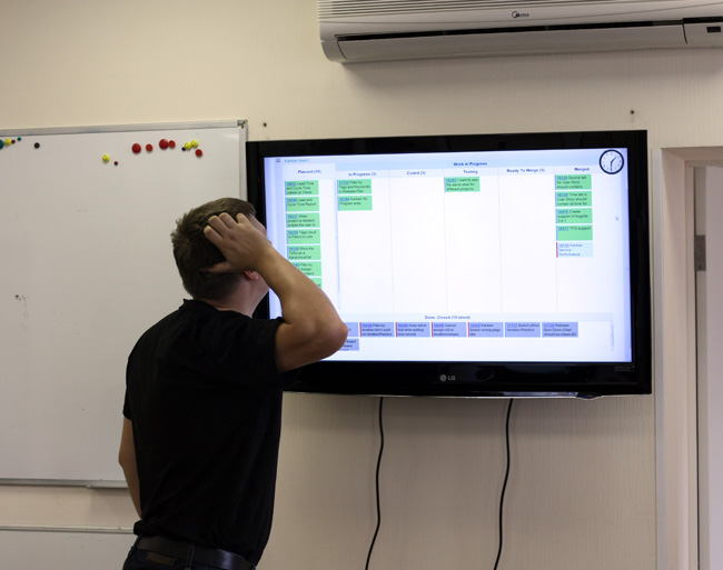 Scrum Master expresses his feelings about digital Kanban Board.