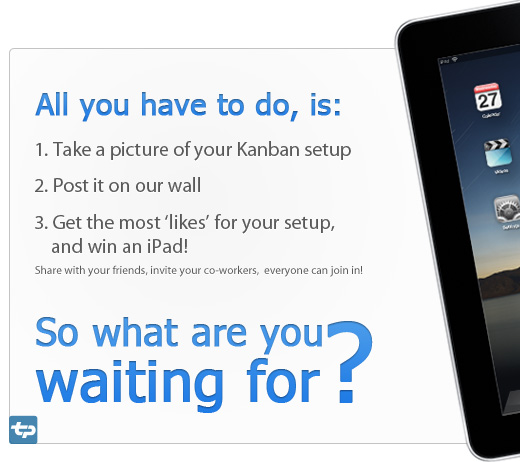 Is your Kanban board worth a new iPad? It's not too late to join the party...