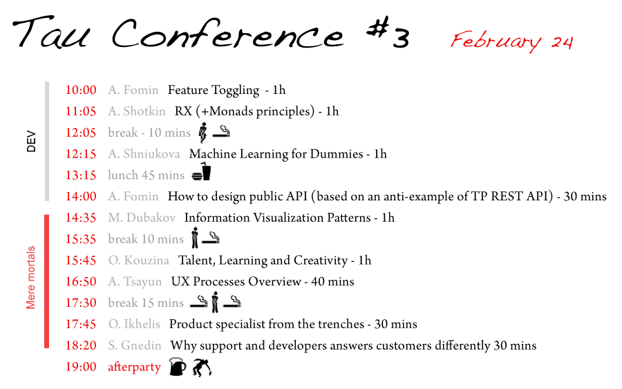 Time for Tau Conf #5. Image 4
