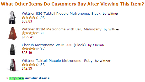 amazon explore similar items