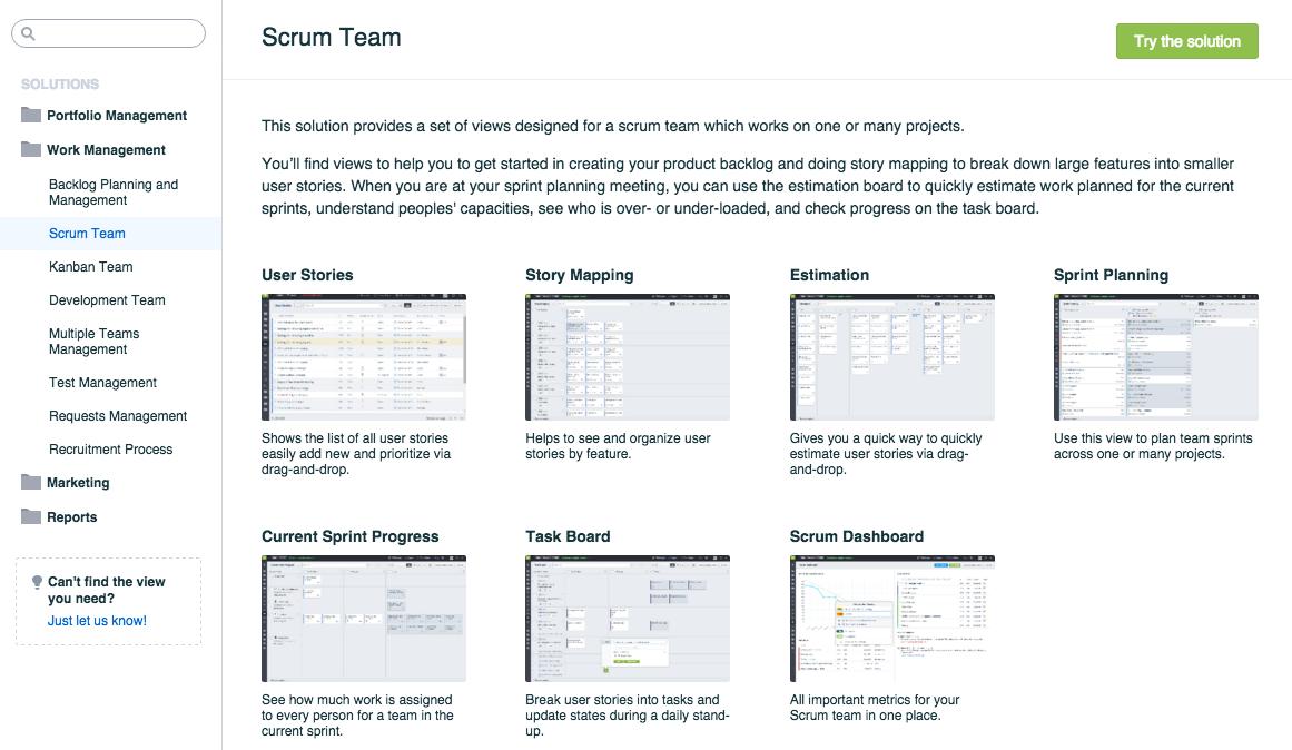 Solutions Gallery Screenshot