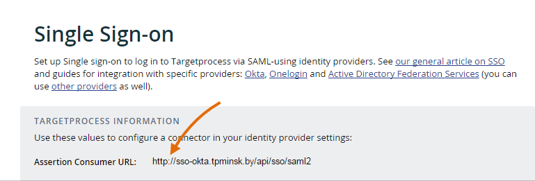 How to set up Single Sign-On in Targetprocess with Okta