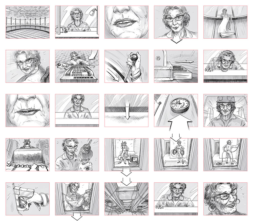 Marvelous A Storyboard For A Film