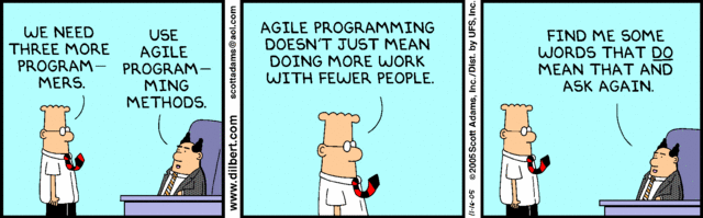 Dilbert on Agile