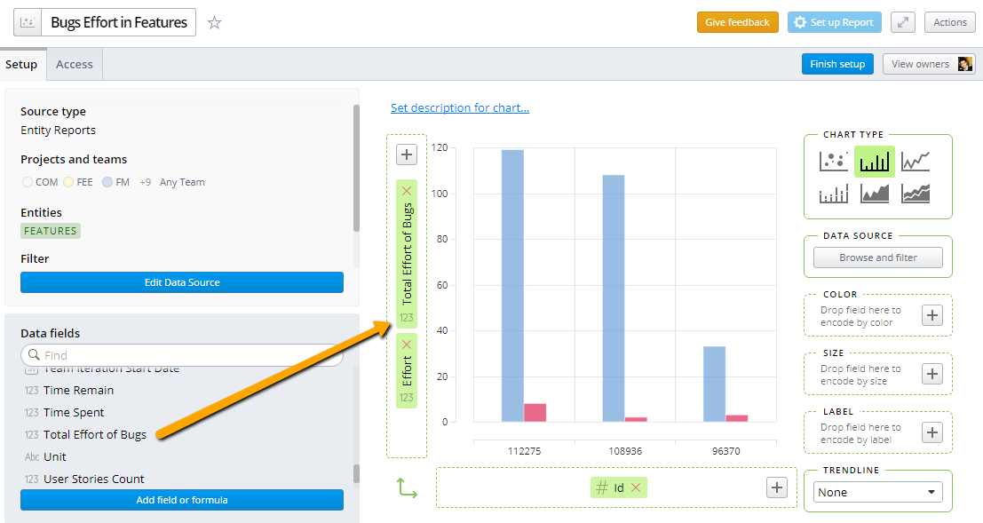 Custom Formulas and In-Chart Calculations in Visual Reports. Image 6