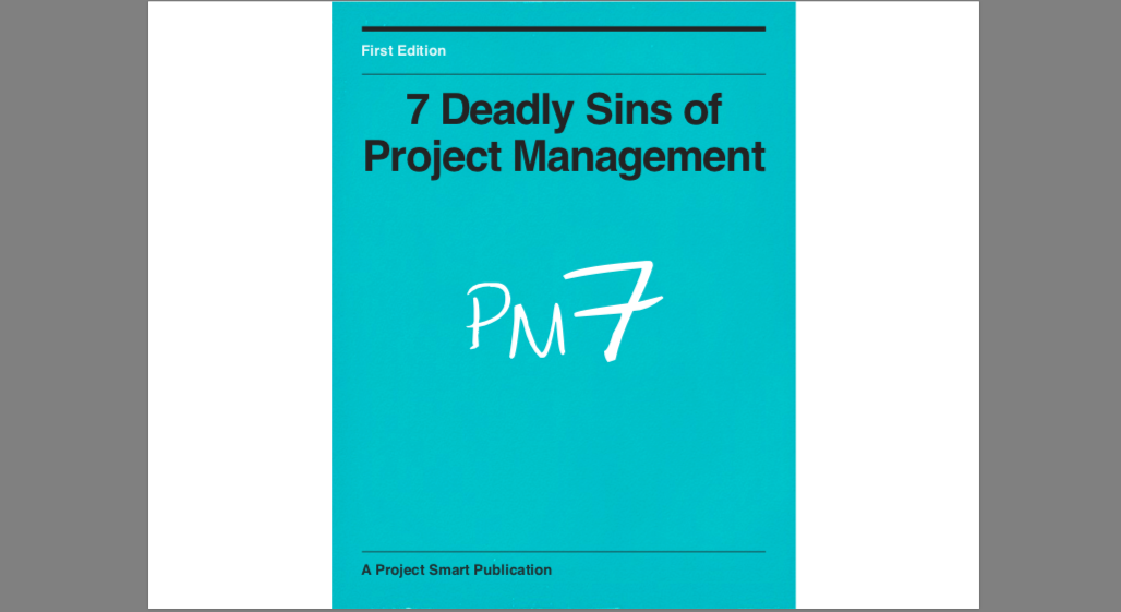 Best Project Management Guides and Ebooks: 7 Deadly Sins of Project Management