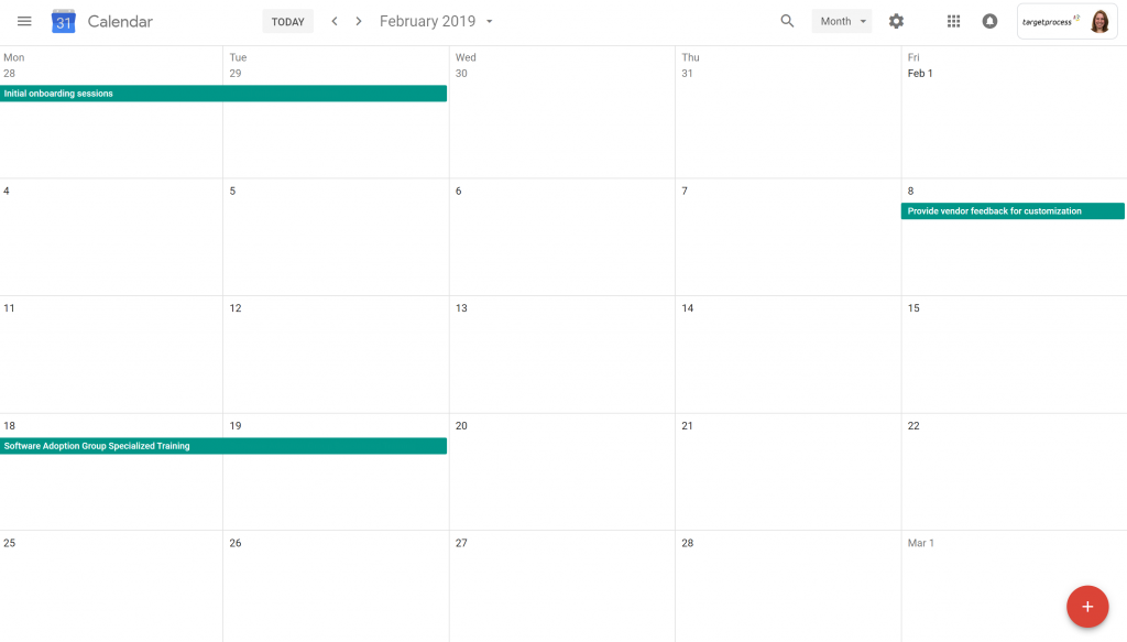February enterprise Agile software implementation plan