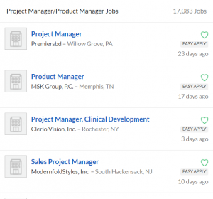 Glassdoor's view on project managers vs product managers: they're the same