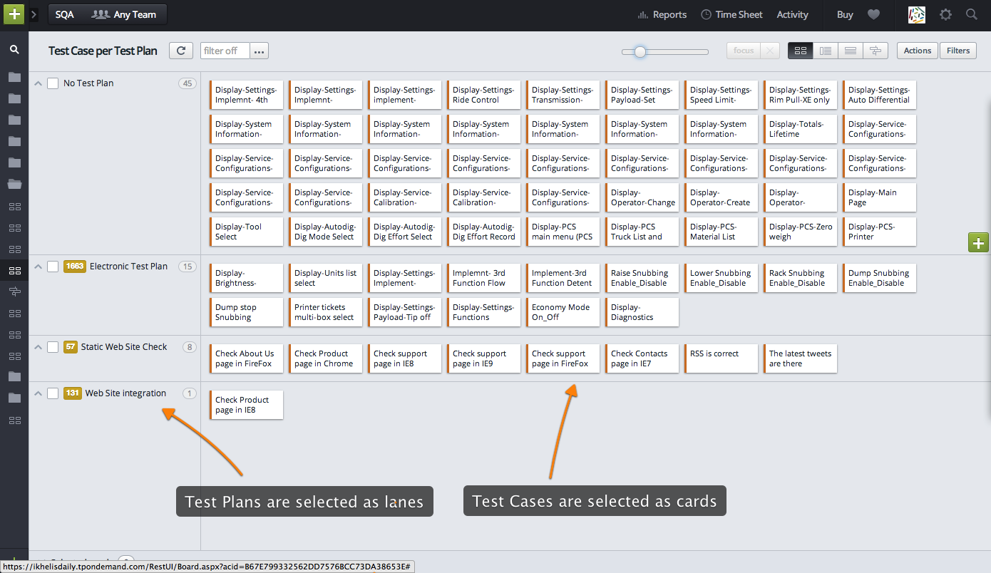 Test Cases and Test Plans creation - Targetprocess - Visual ...