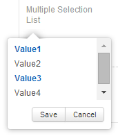 Multiple Selection List