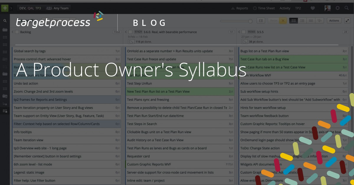 A Product Owner's Syllabus | Targetprocess - Visual management software